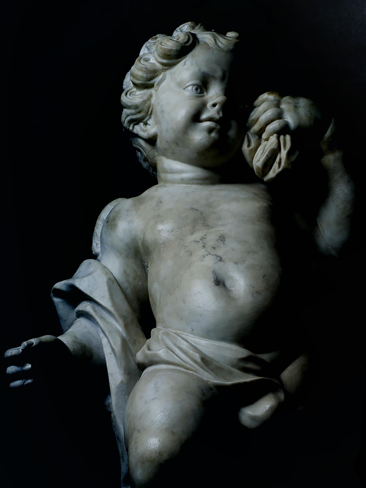 Cherub from Private Collection, Baroque Art, 18th Century