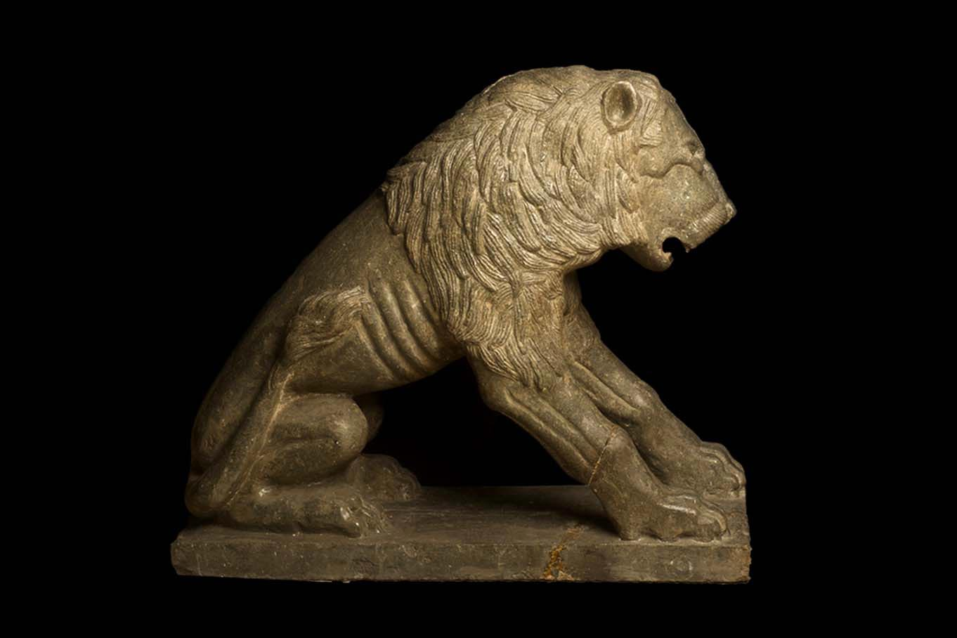 Guarding Lion from Private Collection, Medieval Art, 13th Century