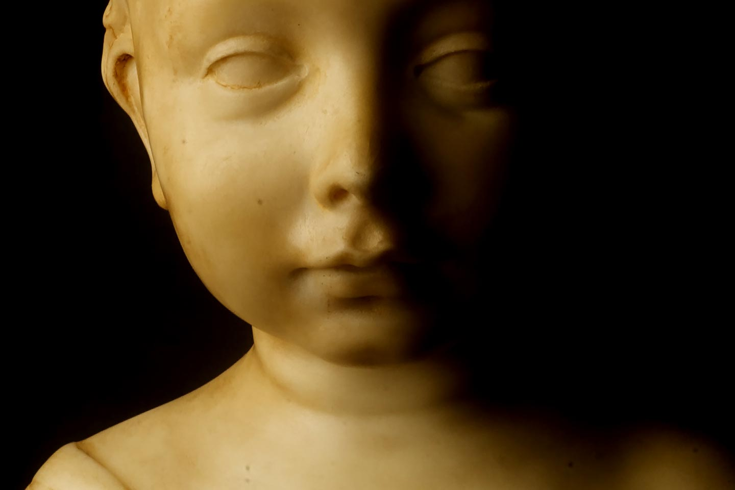 Bust of a Child from Private Collection, Neoclassical Art, 18th Century