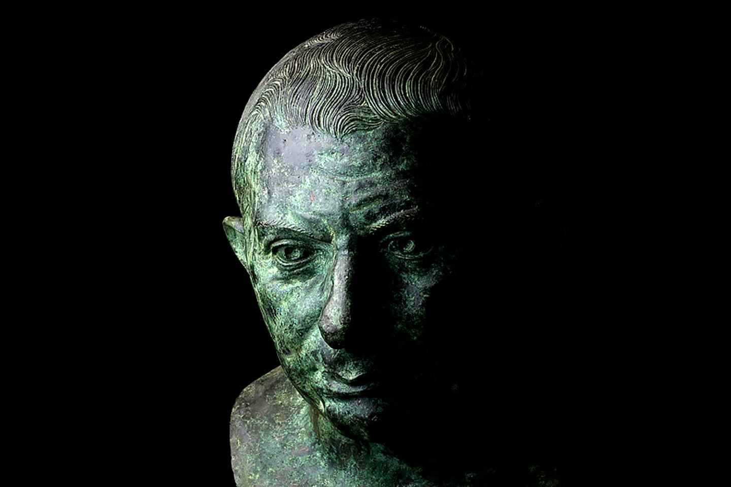 Portrait of Lucius Caecilius Iucundus from Private Collection, Neoclassical Art, 19th Century