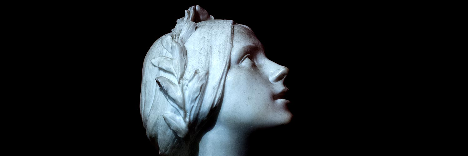 Joan of Arc Bust from Private Collection, Neoclassical Art, 19th Century